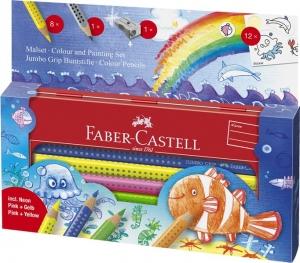 Set Cadou 8 Culori si Accesorii Jumbo Grip Ocean Faber-Castell2
