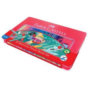 Creioane Colorate Acuarela 48 Culori si 4 Accesorii Cutie Faber-Castell0