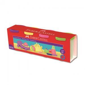 Plastina 4x130g Culori Pastel Faber-Castell0