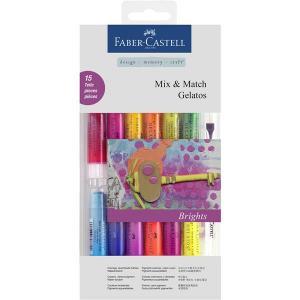 Set 12 Pasteluri Solubile Gelatos si 3 Accesorii Culori Aprinse Faber-Castell0