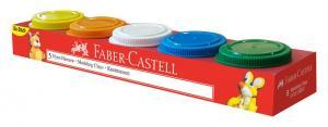 Plastilina 5x45g Faber-Castell0