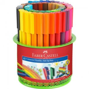 Carioca 45 Culori Connector in Suport Mesh Faber-Castell0