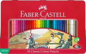 Creioane Colorate Faber-Castell - 36 culori Cutie Metal 2