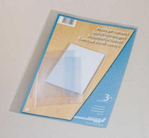 Coperta PP - 120 microni, pentru caiet A4, 3 buc/set, AURORA - transparent cristal [0]