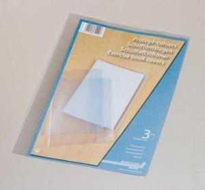 Coperta PP - 120 microni, pentru caiet A4, 3 buc/set, AURORA - transparent cristal [1]