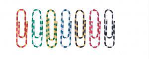 Agrafe colorate 28 mm, 100/cutie, ALCO Zebra - asortate1