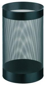 Cos metalic cu perforatii, forma rotunda, 15 litri, ALCO - negru1