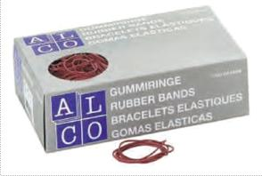Elastice pentru bani, 1000g/cutie, D 85 x 1,5mm, ALCO2