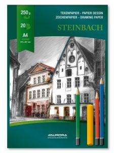 Bloc desen A4, 20 file - 250g/mp, AURORA Steinbach2