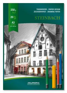 Bloc desen A3, 20 file - 250g/mp, AURORA Steinbach0