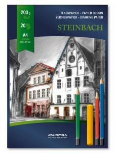 Bloc desen A4, 20 file - 200g/mp, AURORA Steinbach0