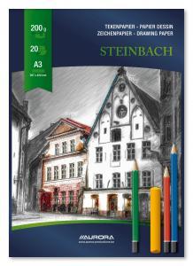 Bloc desen A3, 20 file - 200g/mp, AURORA Steinbach [2]