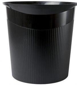 Cos de birou pentru hartii, 13 litri, HAN Loop - negru0
