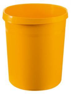Cos de birou pentru hartii, 18 litri, HAN Grip - galben0