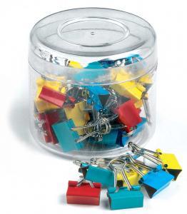 Clips hartie 15mm, 50buc/cutie, culori asortate0