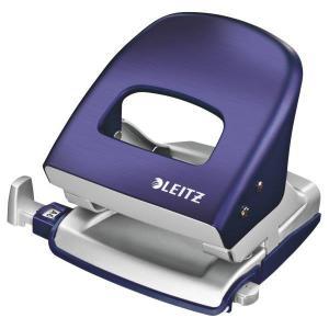 Perforator metalic LEITZ 5006 Style NeXXt Series, 30 coli - albastru titan0