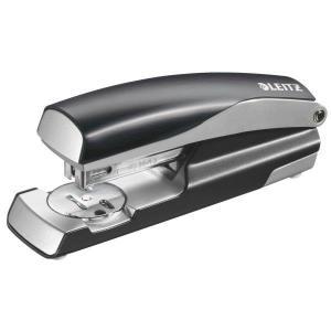 Capsator metalic LEITZ Style 5562 NeXXt Series, cutie, 30 coli - negru satin0