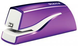 Capsator electric LEITZ Wow cu baterii NeXXt Series, 10 coli - mov metalizat0