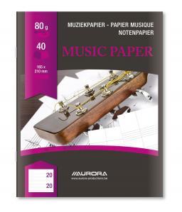 Caiet A5, 20 file - 80g/mp, AURORA - muzica [0]