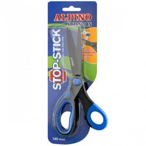 Foarfeca copiii, 18cm, cu rubber grip, in blister, ALPINO Stop Stick2