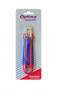 Cutter premium Optima, lama trapezoidala SK5, auto-retractabil, sina metalica, ABS cu rubber grip2