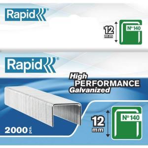 Capse RAPID 140/12, 2.000 buc/cutie - pentru pistol de capsat RAPID0