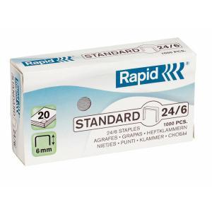 Capse RAPID Standard 24/6, 1000 buc/cutie0