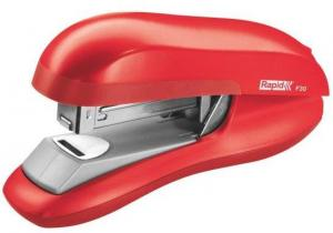Capsator plastic RAPID F30, 30 coli, capsare plata - rosu deschis0