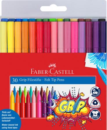 Carioca Grip Faber-Castell, 20 culori in etui plastic2