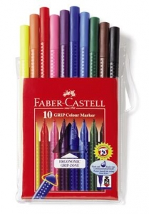 Carioca Grip Faber-Castell - 10 culori/etui plastic0