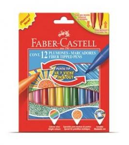 Carioci Cu Varf Retractabil Faber-Castell - 12 culori0