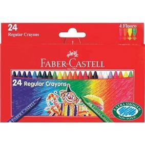 Creioane Cerate Clown Faber-Castell - 24 culori0