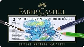 Creioane Colorate Acuarela A.Durer Faber-Castell, 12 culori, cutie metalica1
