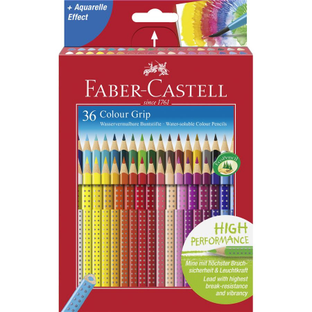Creioane Colorate Grip 2001 Faber-Castell, 12 culori in cutie carton [1]