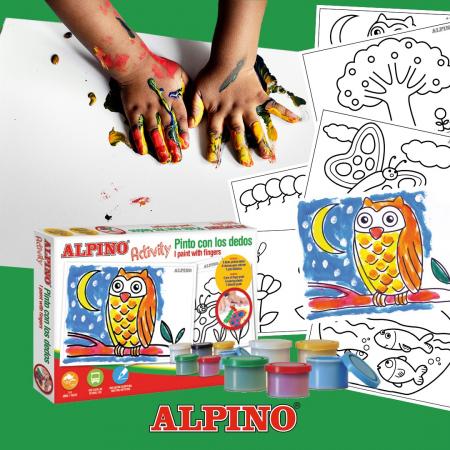 Cutie cu articole creative pentru copii, ALPINO Activity - Paint with the finger0