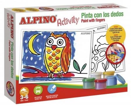 Cutie cu articole creative pentru copii, ALPINO Activity - Paint with the finger1