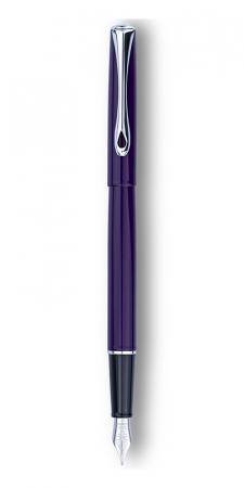 DIPLOMAT Traveller deep purple - stilou cu penita M, din otel inoxidabil0