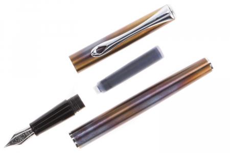 DIPLOMAT Traveller Flame - stilou cu penita M, din otel inoxidabil [5]