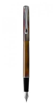 DIPLOMAT Traveller Flame - stilou cu penita M, din otel inoxidabil [0]