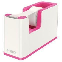 Dispenser cu banda adeziva inclusa LEITZ Wow, culori duale - roz metalizat/alb0