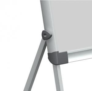 Flipchart magnetic, 100x68cm, reglabil pe inaltime, cu brate laterale retractabile, SMIT Shift2