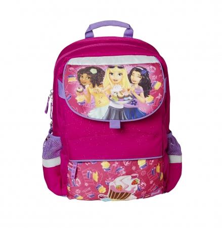 Ghiozdan scoala Starter Plus LEGO Core Line - design roz Friends Cupcake1