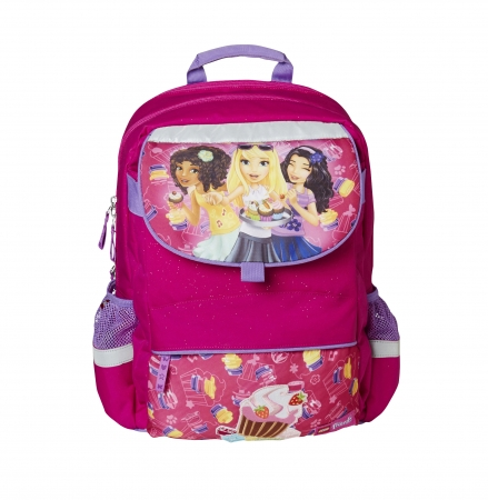 Ghiozdan scoala Starter Plus LEGO Core Line - design roz Friends Cupcake0