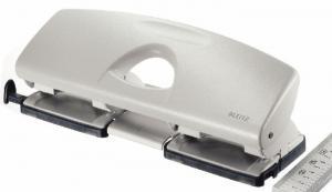 Perforator metalic LEITZ 5022, pentru 4 perforatii, 16 coli - gri0