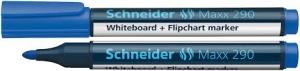 Marker SCHNEIDER Maxx 290, pentru tabla de scris+flipchart, varf rotund 2-3mm - albastru0