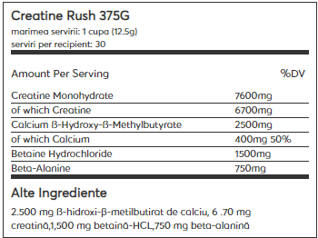 Weider Creatine Rush 375 g 1