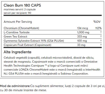 Kaged Muscle Clean Burn 90 serv 180 caps 1