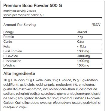Weider Premium BCAA Powder 500 g 1