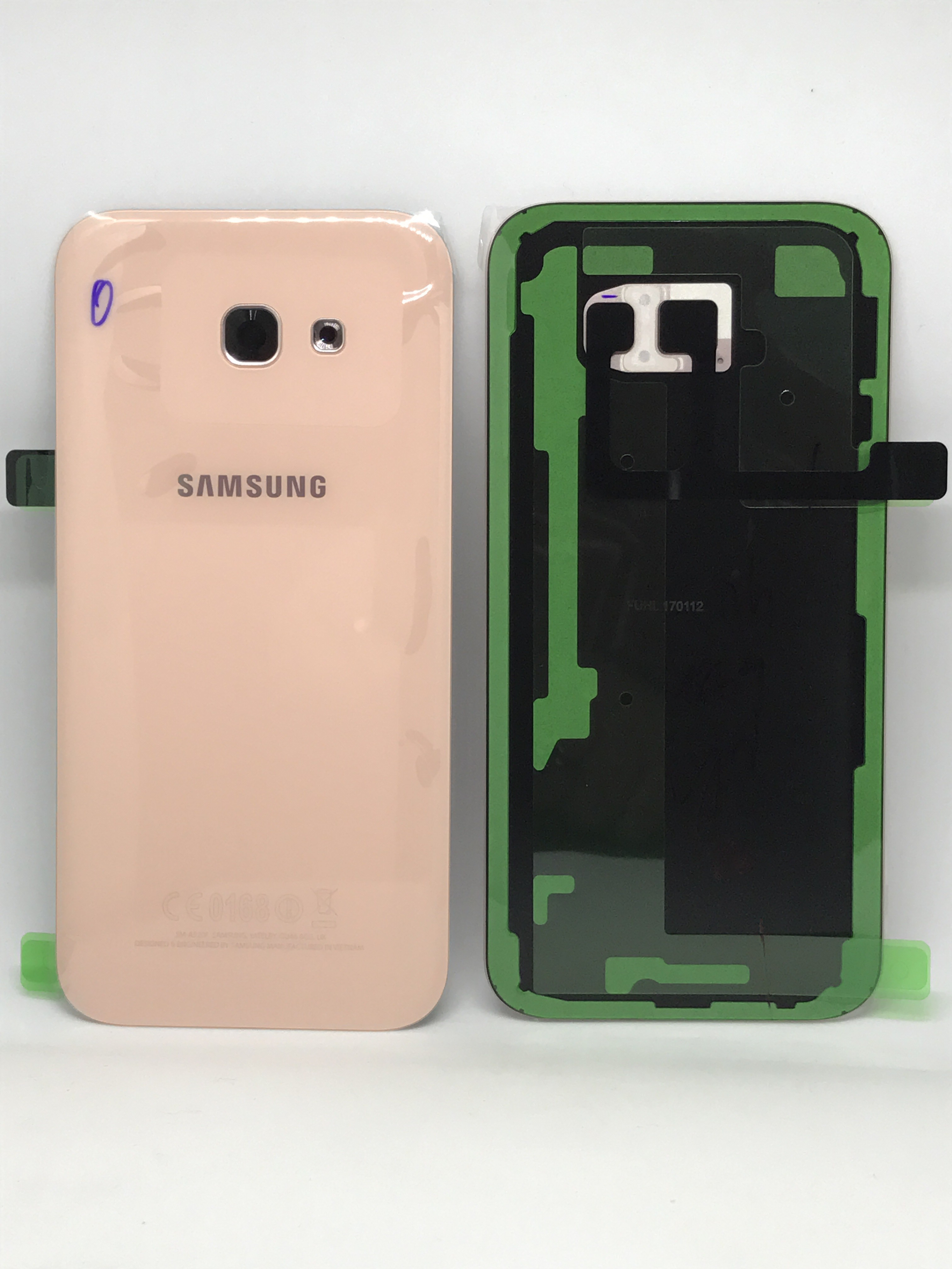 Capac baterie Samsung galaxy A5 2017 A520f Pink Roz GH82-13638D 0