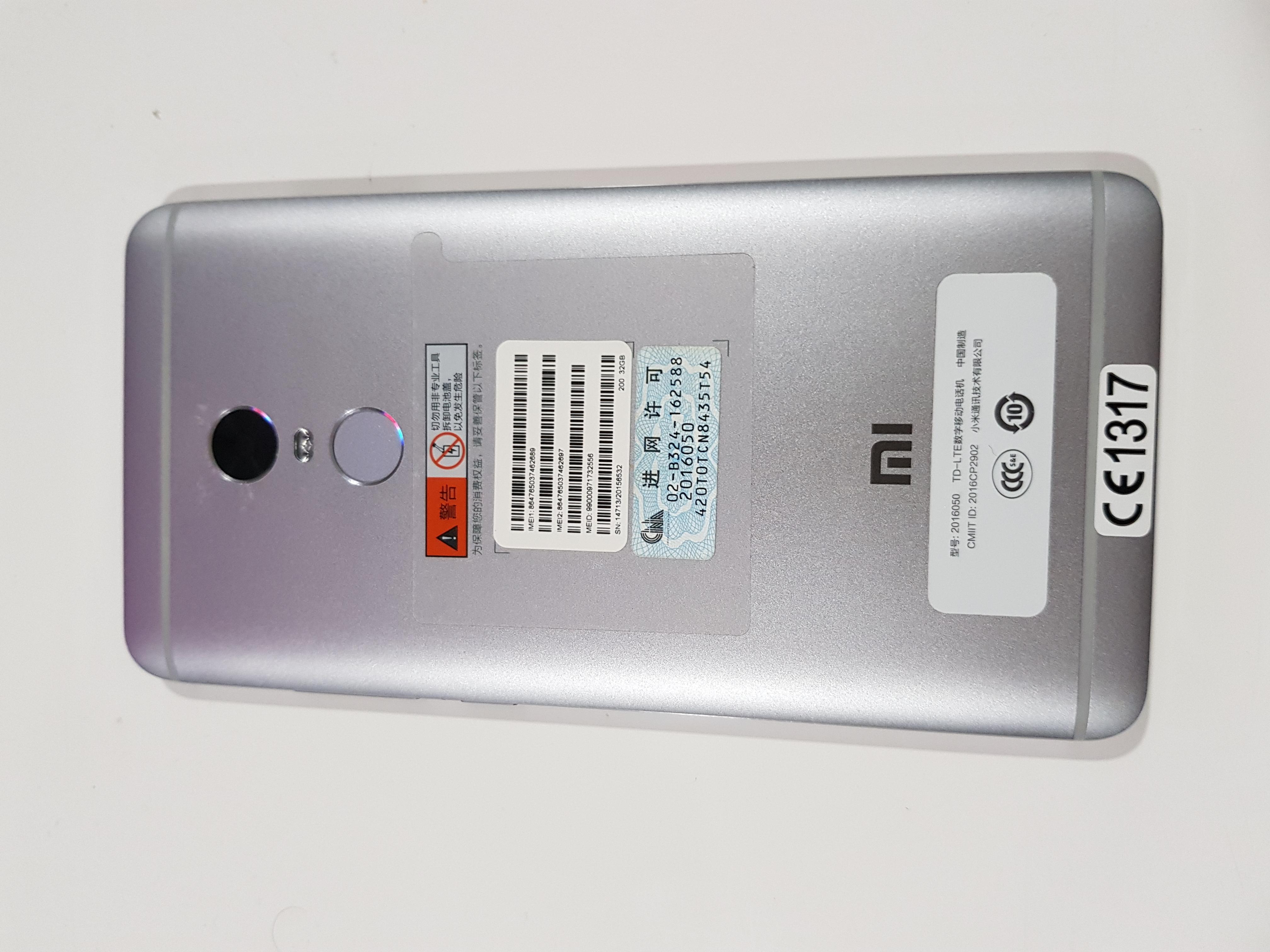 Carcasa capac baterie rama Xiaomi Note 4 grey swap 0